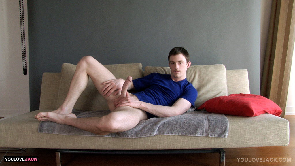 mind and lets handsome jock blowing circumcised dick looking father figure with